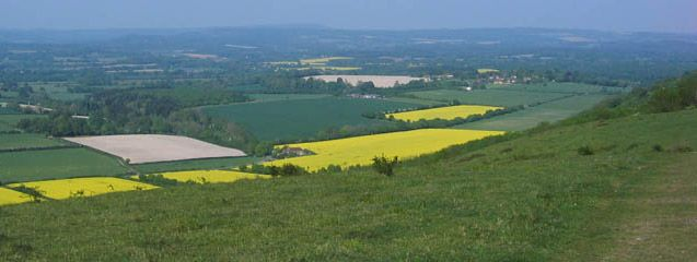 View inland from South Downs Way